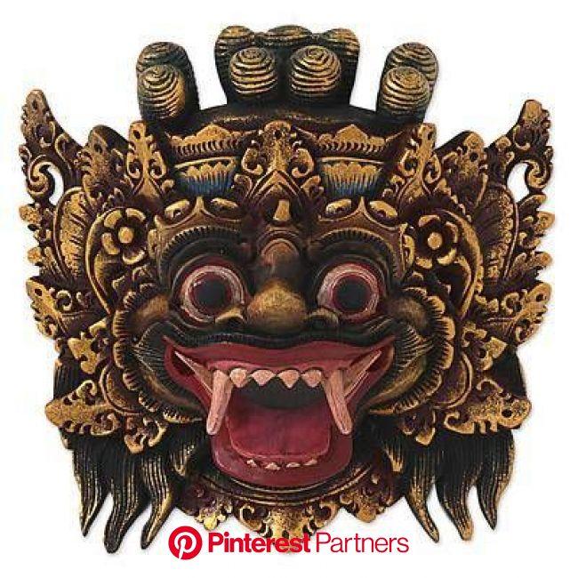 Wood mask, 'Bali Barong' | Barong, Antique porcelain dolls, Masks art