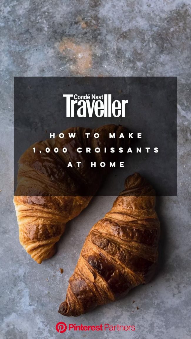 The best croissant recipe from Bread Ahead | Condé Nast Traveller [Video] in 2020 | Healthy baking recipes, Lattice pastry, Baking ingredients