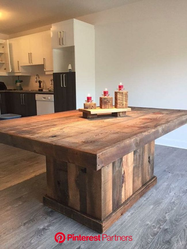 Rustic-style table made by hand from barn wood by Designdantan | Rustic furniture design, Rustic furniture, Furniture