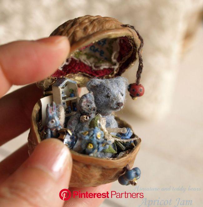 Интервью с японской волшебницей Apricot Jam   Журнал Ярмарки Мастеров   Walnut shell crafts, Miniatures, Apricot jam
