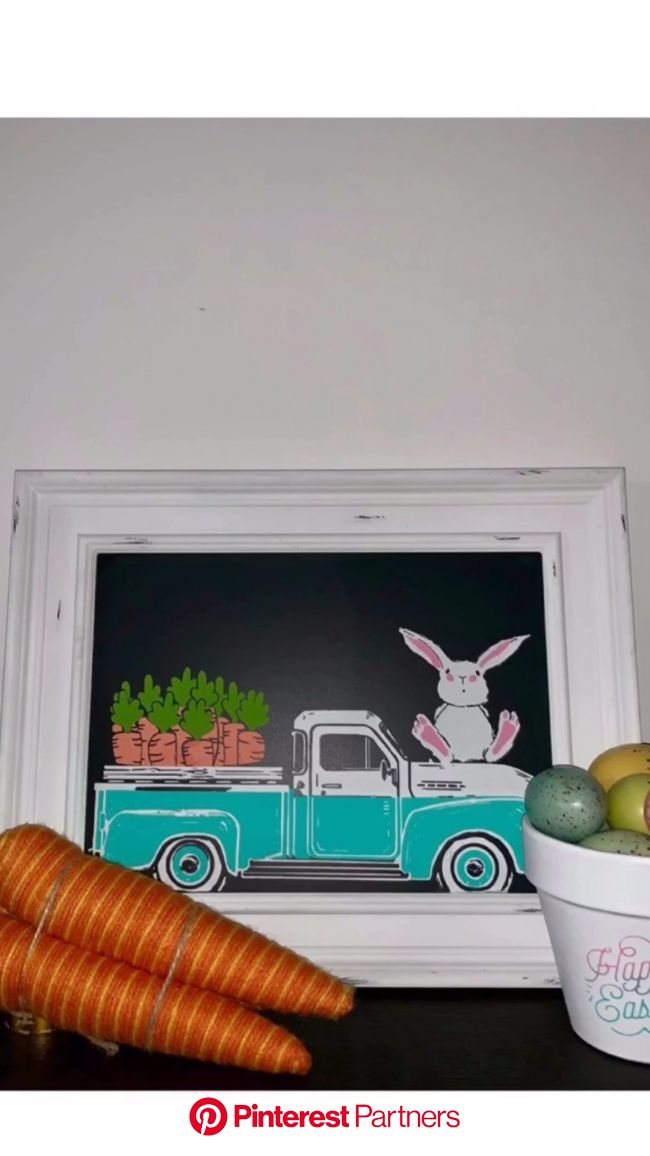 Vintage Truck | Chalk Couture | Easter Decor | Home Decor | Rustic Frame [Video] | Chalk crafts, Chalk design, Chalk creations