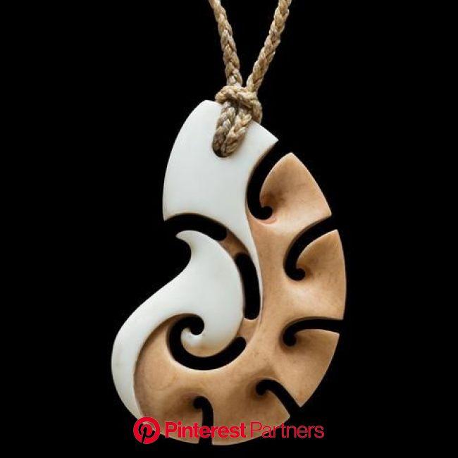 Stained Bone Matau Pendant by New Zealand Artist Kerry Thompson | Wood carving art, Wooden jewelry, Bone jewelry
