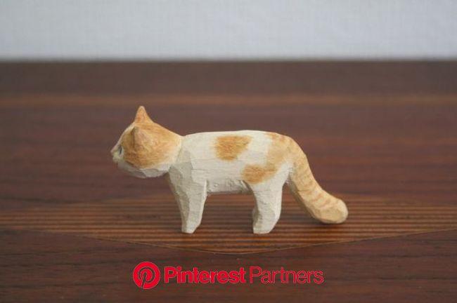 木彫りマメ猫_L画像1 | キャットアート, 木彫り, 木彫りアート