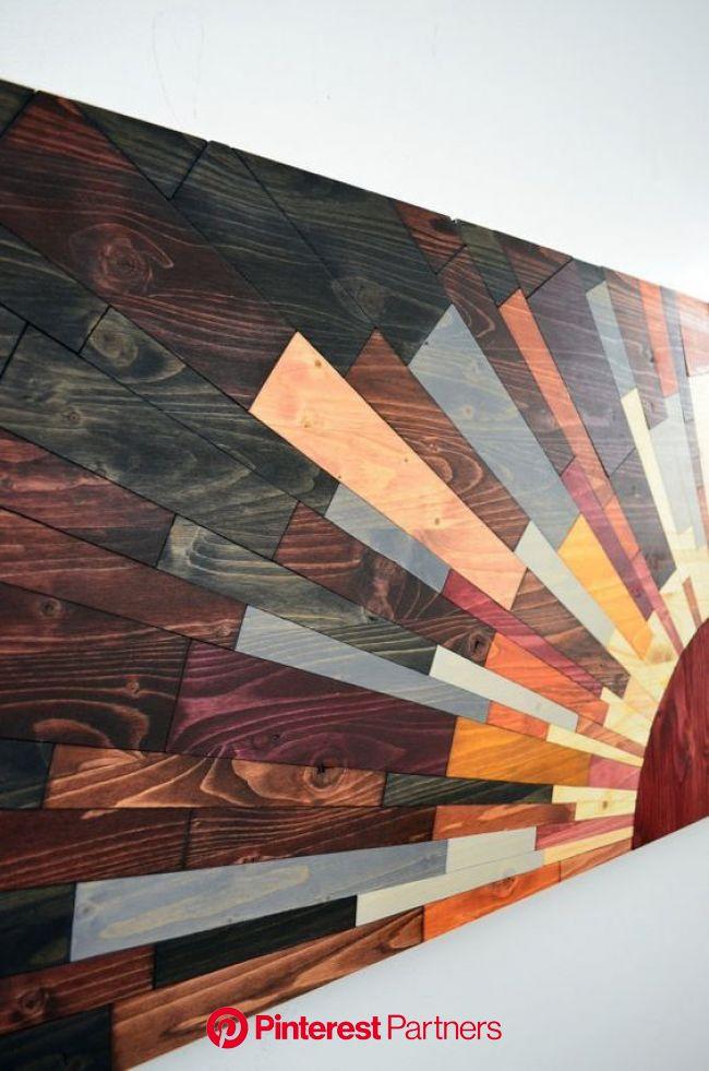50+ Beautiful Handcrafted Wood Wall Art   Wood wall art diy, Diy wood wall, Wooden wall art