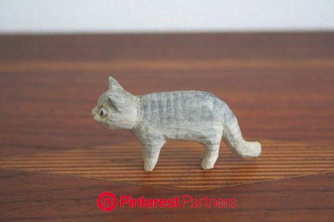 木彫りマメ猫_E | 木彫り, 猫, 動物