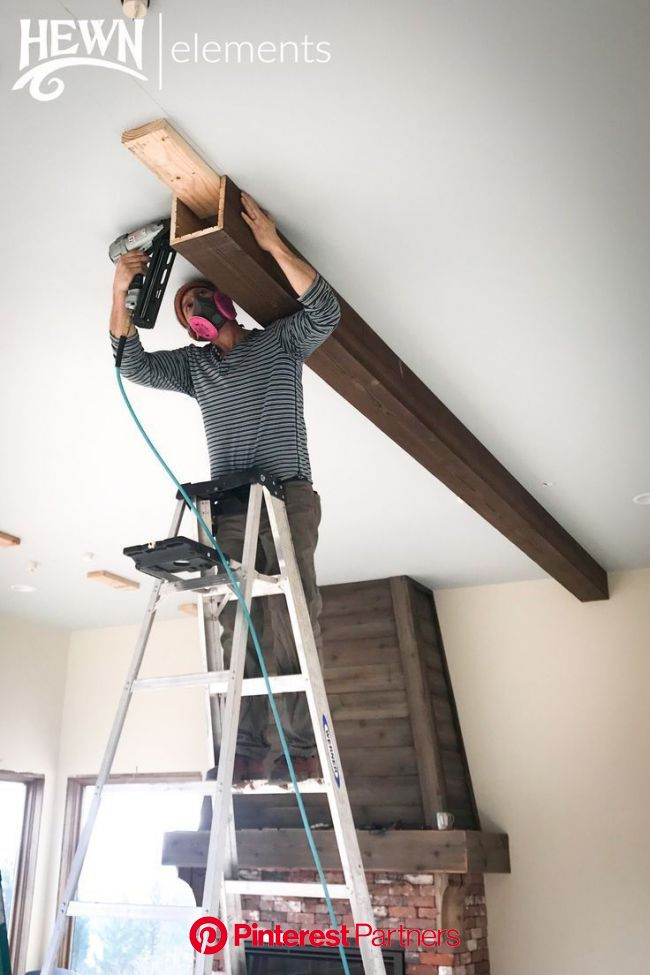 Hewn Elements DIY Ceiling Beam Install | Faux ceiling beams, Diy ceiling, Ceiling beams