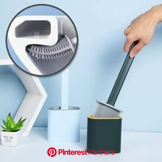 REVOLUTIONARY SILICONE FLEX TOILET BRUSH WITH HOLDER [Video] [Video] in 2020   House cleaning tips, Toilet brush, Household cleaning tips