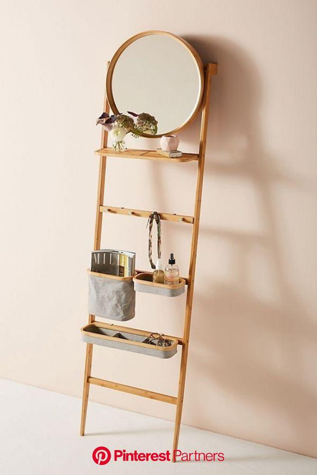Leaning Ladder Vanity   Diy bathroom design, Ladder decor, Apartment decor