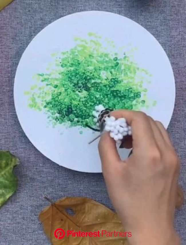 Good tricks to draw a tree ???? [Video] in 2020 | Diy canvas art painting, Diy canvas art, Diy art painting