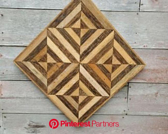 Salvage wood decor, Optical illusion, Geometric wood art,  Rustic decor, Lath wall art, Wall decor | Salvage wood decor, Wood art, Wood decor