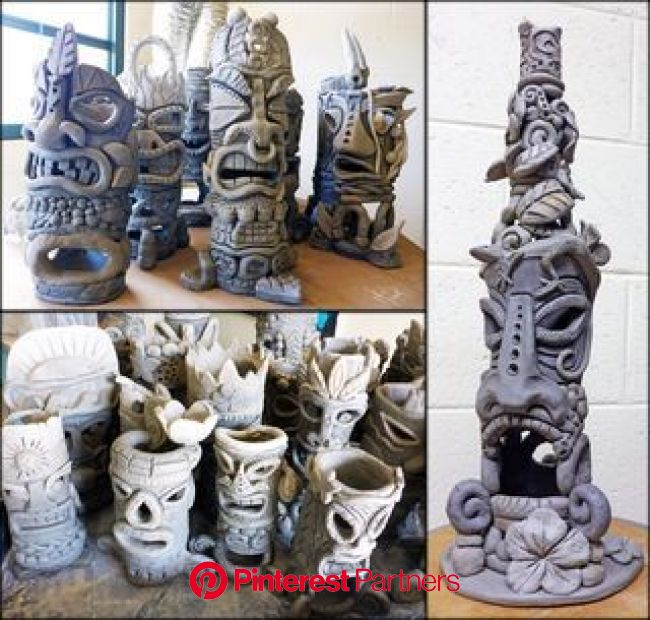 Tiki Sculpture Progress (Julia Sanderl) | Ceramic sculpture figurative, Ceramic sculpture, Ceramic art