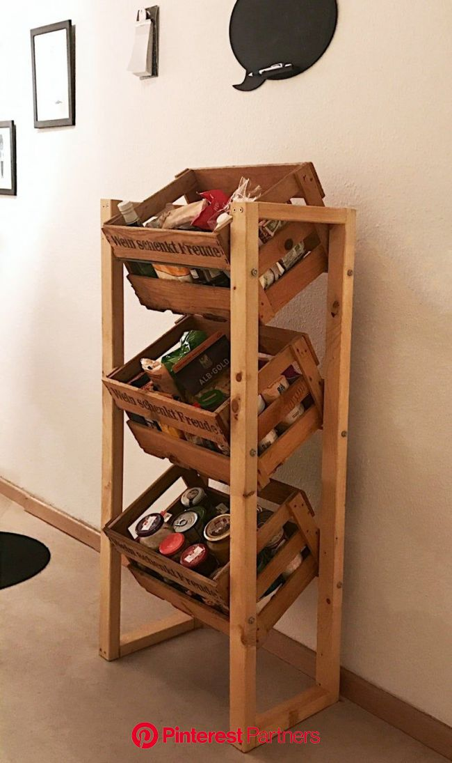 Wine crate shelf without wine crates. Shelf storage kitchen | Etsy in 2020 | Wine crate shelf, Crate shelves, Wine box shelves