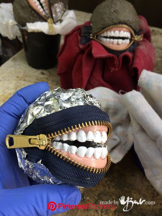 DIY Concrete Smiling Stones - Made By Barb - zippered toothy laughs | Diy halloween decorations, Halloween decorations, Halloween diy