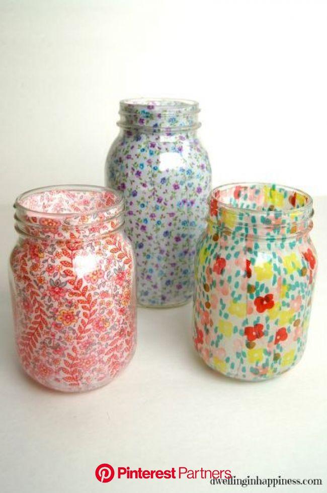 DIY Mason Jar Vases   Mason jar crafts diy, Mason jar decorations, Spring mason jar