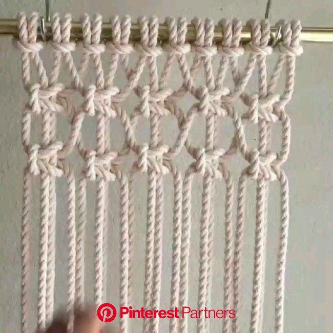 How to make macrame simple easy and fast handmade [Vídeo] | Arte macrame, Trabalhos manuais, Como fazer artesanato