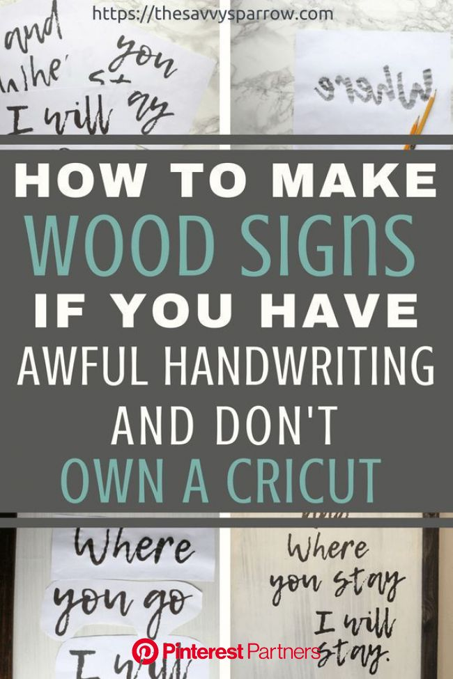 Cheap and Easy DIY Farmhouse Wood Signs - A Step-by-Step DIY Tutorial! | Diy wood signs, Diy home decor projects, Diy signs
