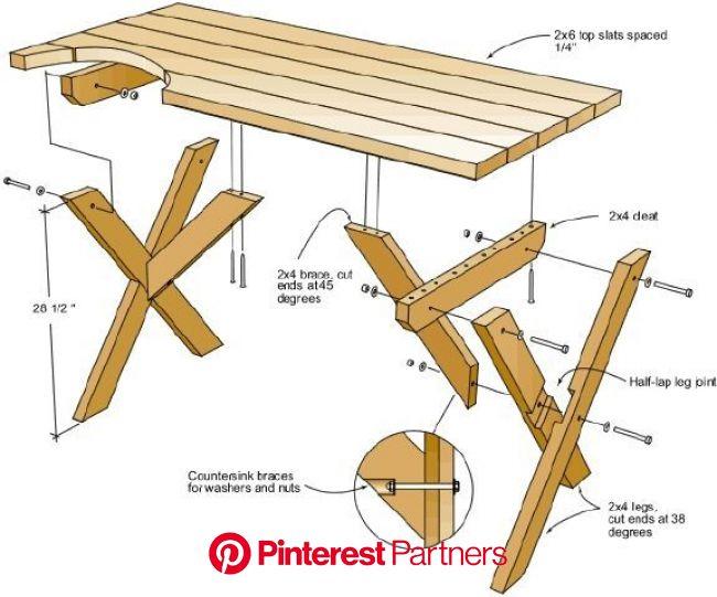 Woodworking Diy Picnic Table Blueprint Plans Wood Decor 2019 2020