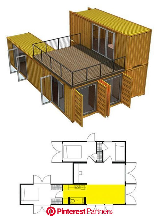 BASE HOME MODULE: Shipping Container Home (Container House) clickbank.dunway.... #con… | Prefab shipping container homes, Building a container home, C