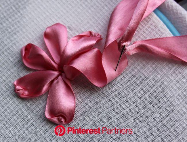 Вышивка атласными лентами для начинающих | Уроки вышивания лентами, Вышивка на шелковых лентах, Цветочная вышивка