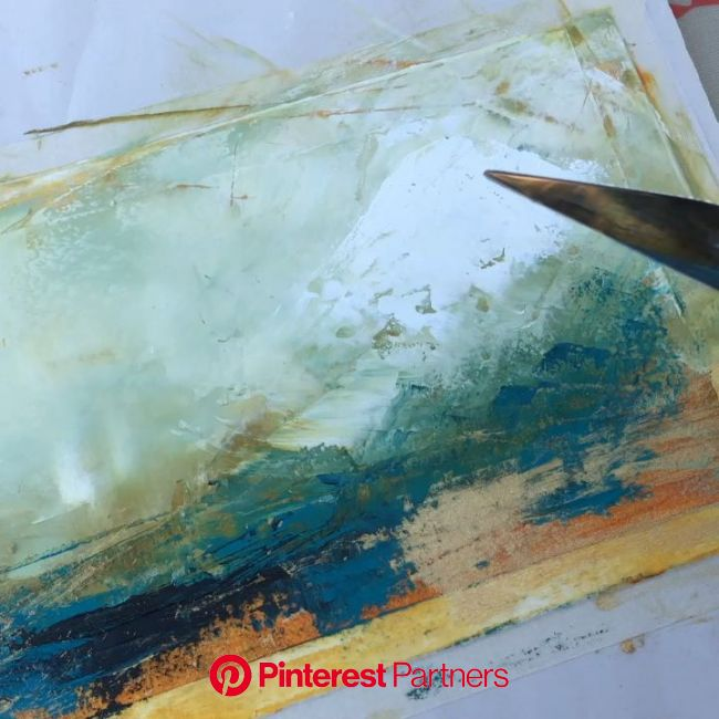 Using a palette knife and fan brush for blending [Video] in 2020 | Abstract painting techniques, Art techniques, Painting techniques
