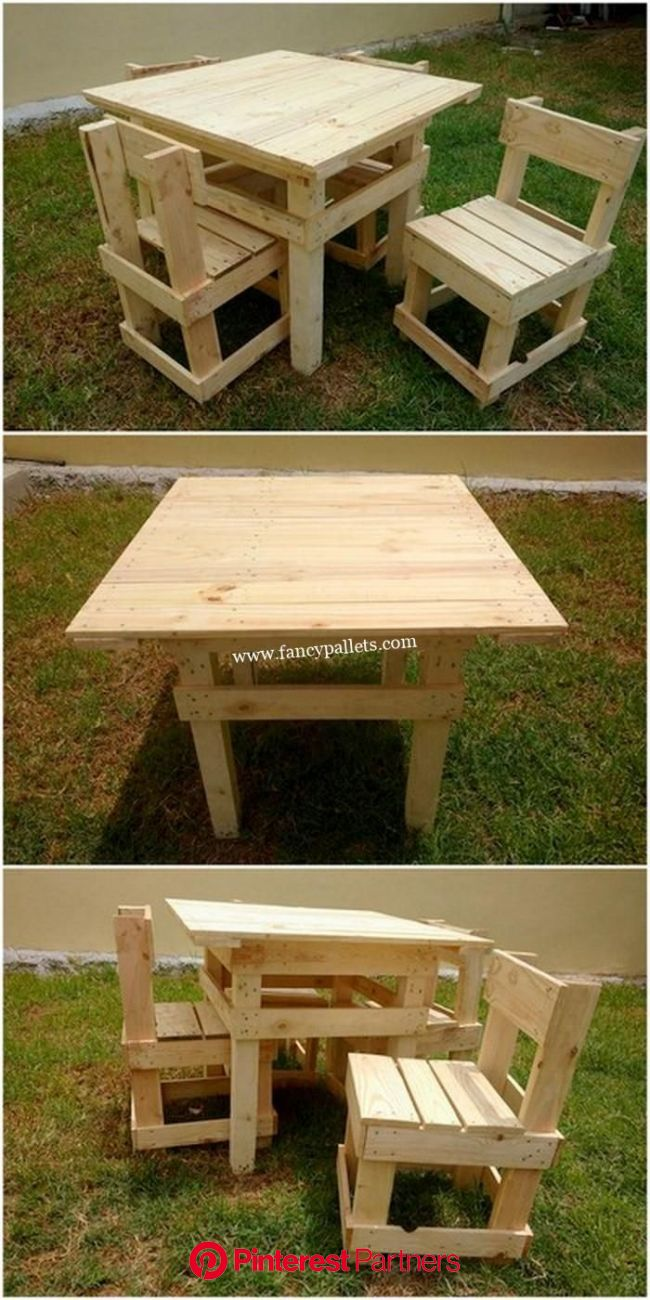 Picture of: Simple Pallets Wood Outdoor Furniture Set Wood Pallets Wood Pallet Furniture Outdoor Wood Furniture Wood Decor 2019 2020
