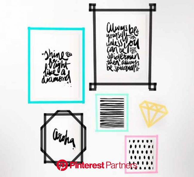 Decoração com Washi Tape: cadernos, parede e objetos de decoração | We Fashion Trends | Arte de parede com fita, Parede de fita, Fita washi