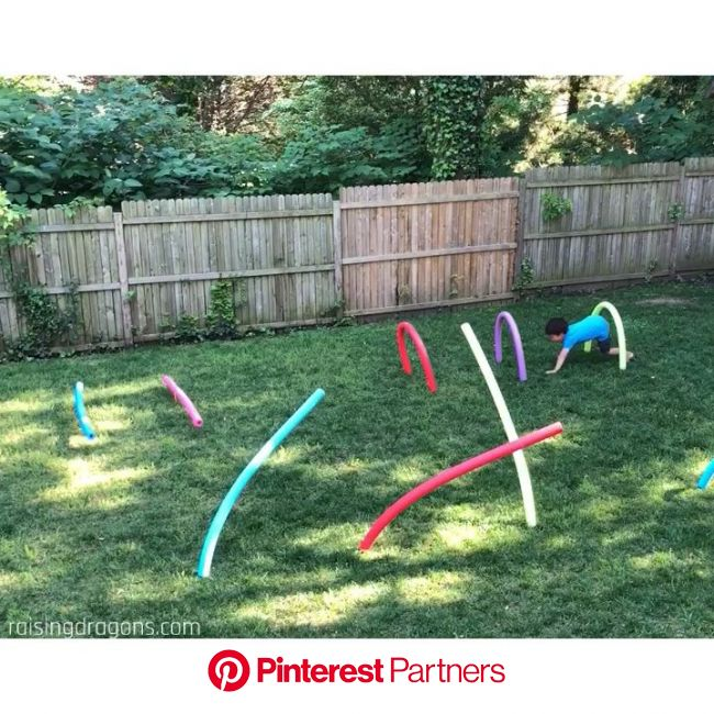 Pool Noodle Obstacle Course * ages 2+ [Video]   Activities for kids, Kids playing, Kids