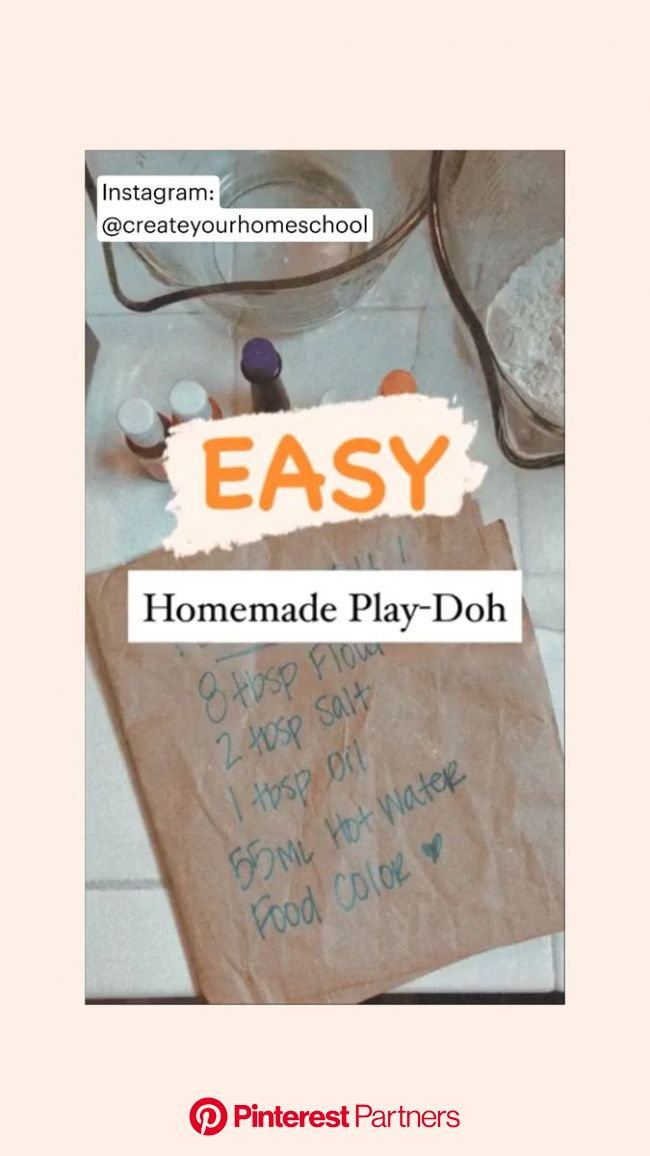 EASY HOMEMADE PLAY-DOH // Homeschool Crafts, Preschool Crafts, Homeschool Preschool, Homeschool Fun : An immersive guide by Free Homeschool Printables