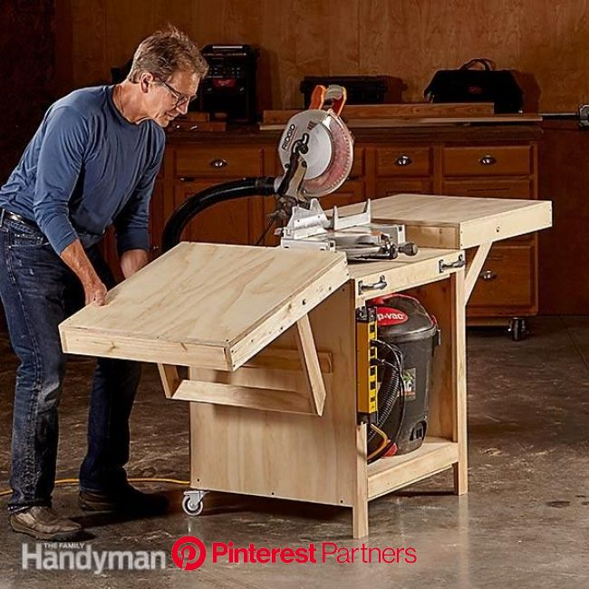 Convertible Miter Saw Station Plans | Miter saw, Mitre saw station, Garage work bench