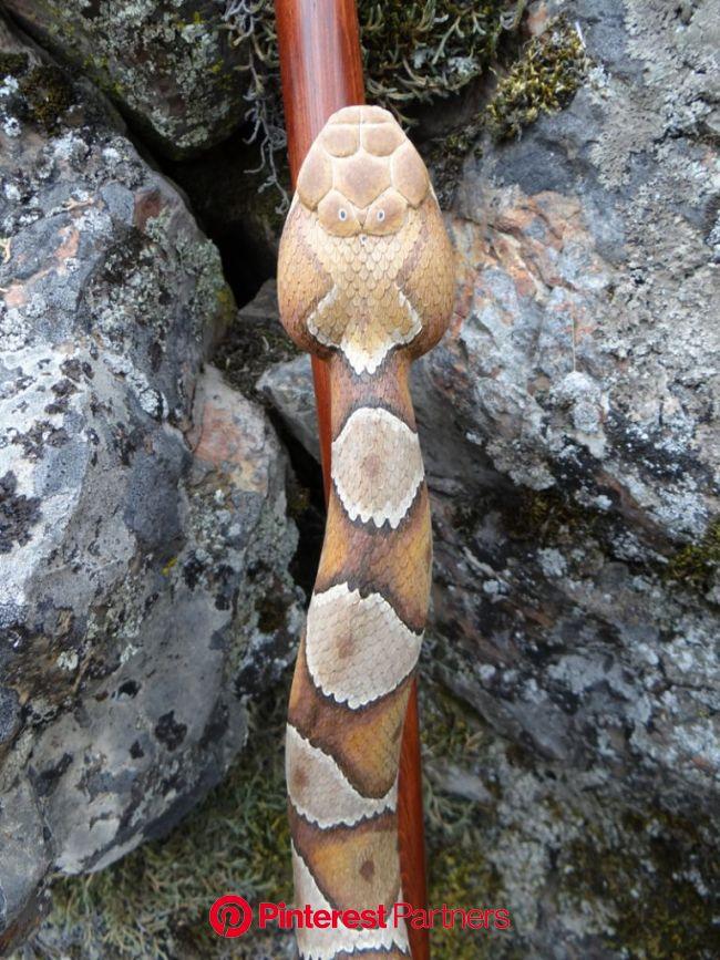 Copperhead Snake Walking Stick #38 | Walking sticks, Hand carved walking sticks, Handmade walking sticks