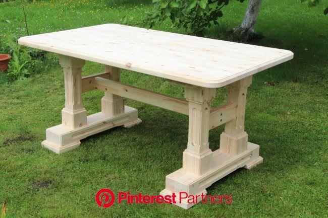 Одноклассники | Стол в деревенском стиле, Деревянные столы, Стол из досок