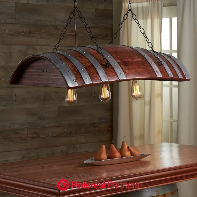 One Third Oak Wine Barrel Chandelier - iD Lights | Wine barrel furniture, Wine barrel chandelier, Barrel furniture