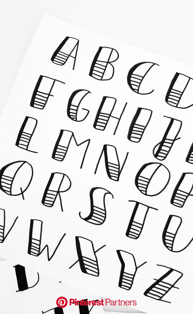 Luloveshandmade-Handlettering-Alphabet-Workshops-Berlin - Luloveshandmade | Bullet journal lettering ideas, Bullet journal font, Bullet journal ideas