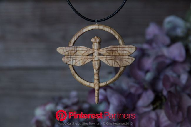 Hand carved wooden pendants by Giles Newman on... | | Dragonfly pendant, Wooden pendant, Bone carving