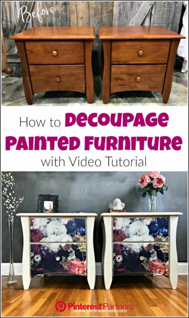 Decoupage Furniture: How to Add Tissue to Painted Furniture   Decoupage furniture, Painted furniture, Furniture makeover diy