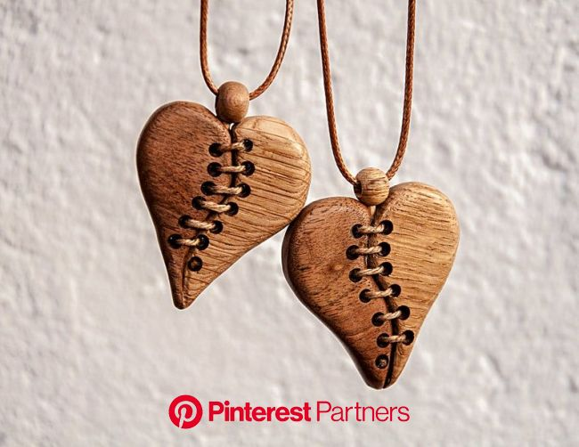 Pair of Love: Two Wooden Necklaces. Pendants for a Loving Couple in 2021 | Wood jewelery, Wood jewelry diy, Wooden jewelry