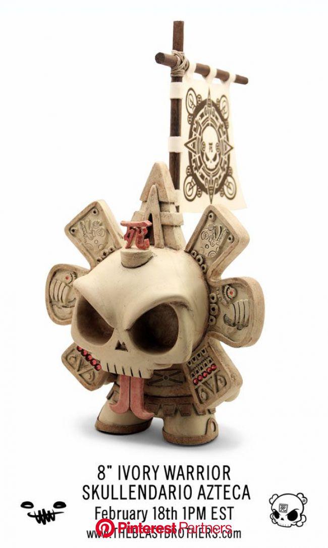 Skullendario Azteca Custom Dunny Release By The Beast Brothers x Huck Gee - Kidrobot Blog | Art toys design, Vinyl art toys, Art toy