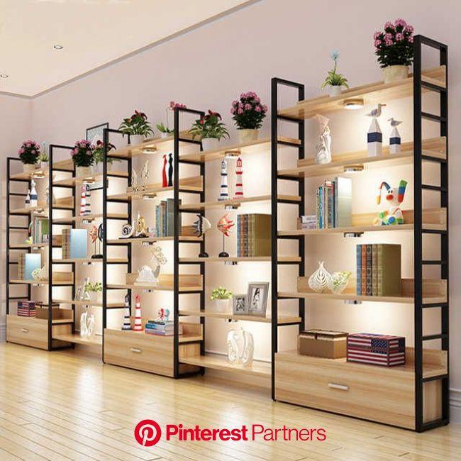 Source Customized wooden shelf supermarket garniture display on m.alibaba.com | Design de loja, Decoração de sala comercial, Prateleiras para loja