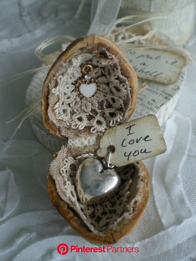 Decorating Your Home With  Hearts...... In Time For Valentine's Day   Walnut shell crafts, Shell crafts, Crafts