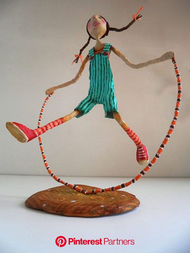 Ninots-of-Natalia-Skipping-Girl----Natalia-Mendoza | Paper mache sculpture, Paper mache art, Paper mache crafts