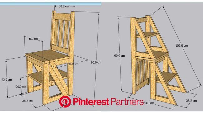 Como hacer una SILLA ESCALERA de madera en 2020 | Hacer escalera de madera, Hacer sillas de madera, Trabajo de madera