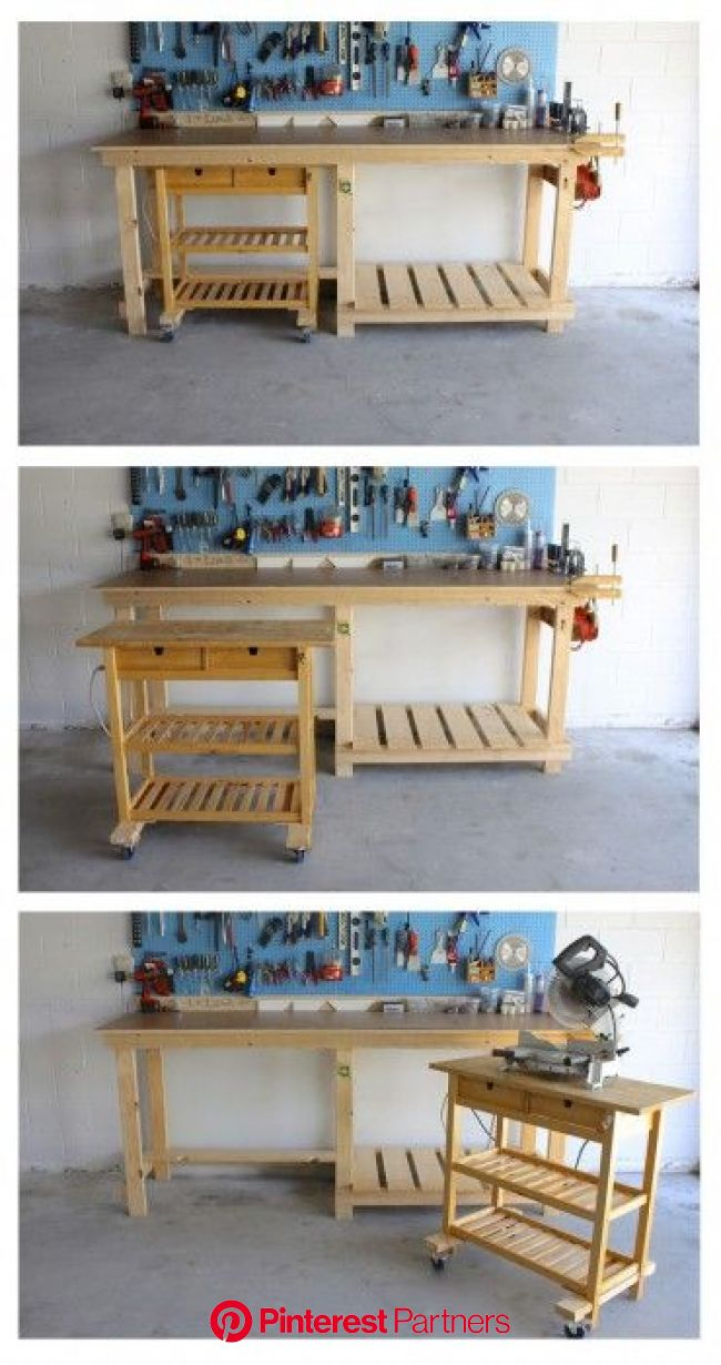 Ikea Kitchen Island as a Mobile Workshop Bench | Workbench designs, Diy workbench, Ikea kitchen island