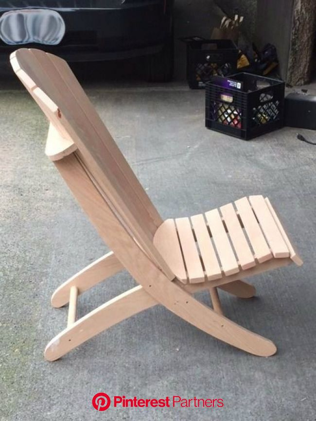 Adirondack Beach Chair W/ 2 Positions | Adirondack chairs diy, Patio chairs diy, Rustic furniture