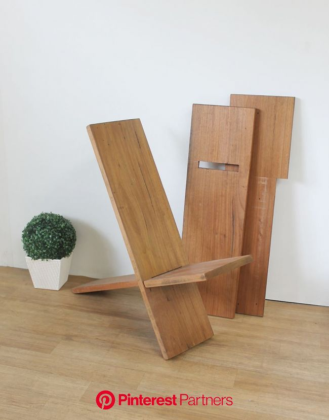 Cadeira-Design-Reta-Desmontável-Natural | Artesanato em madeira de paletes, Projetos de madeira faça você mesmo, Mesa e cadeiras de madeira