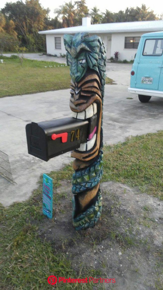 Tiki mailbox..   Tiki decor, Tiki room, Tiki