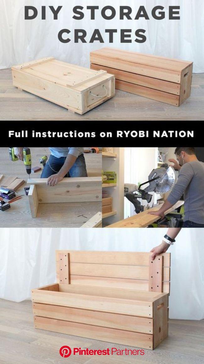 RYOBI NATION - Wood Storage Crates | Diy storage crate, Crate storage, Diy storage
