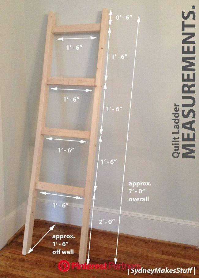DIY Quilt Ladder | Diy quilt ladder, Quilt ladder, Diy quilt