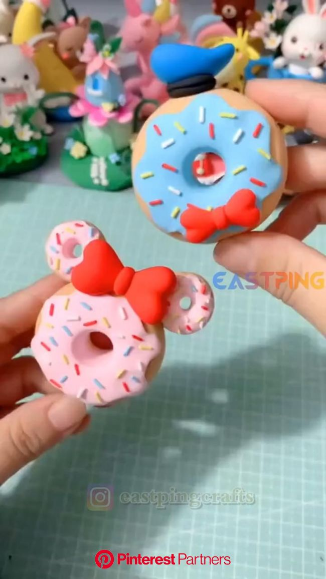 DIY clay handicraft-clay ideal/tutorial [Video] | Manualidades, Como hacer porcelana fria, Manualidades creativas