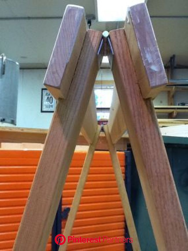Folding sawhorse stows away - Fine Woodworking | Folding sawhorse, Woodworking saws, Sawhorse