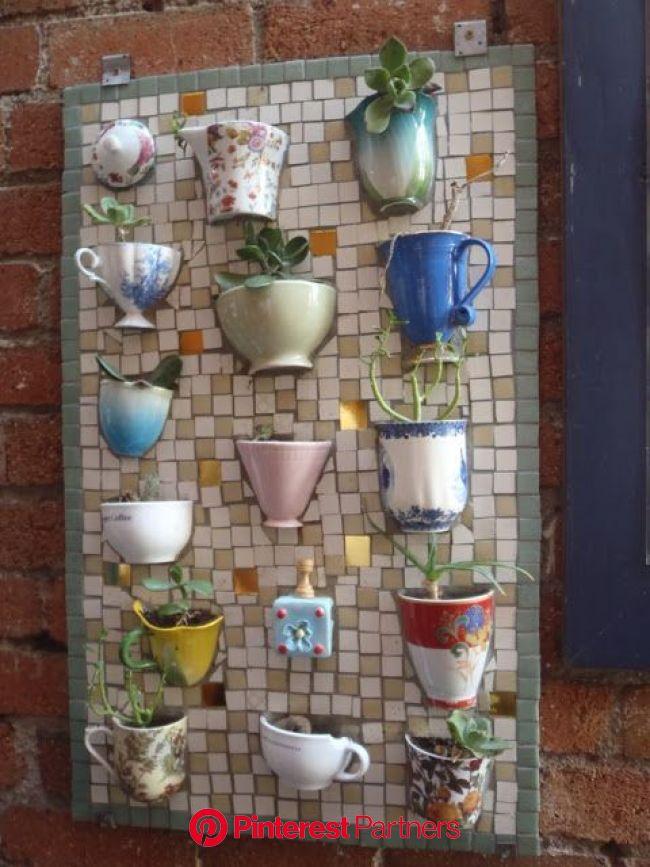 My Cup Of Tea - Teacup Crafts & Home Decor   Unique garden decor, Teacup mosaic, Mosaic decor